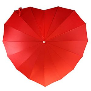 Crimson Heart Umbrella for Valentine's Day