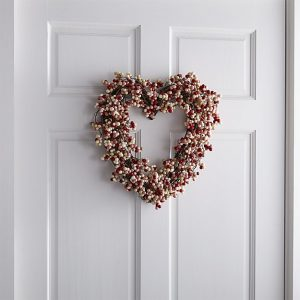 Crate & Barrel Heart Wreath for Valentine's Day