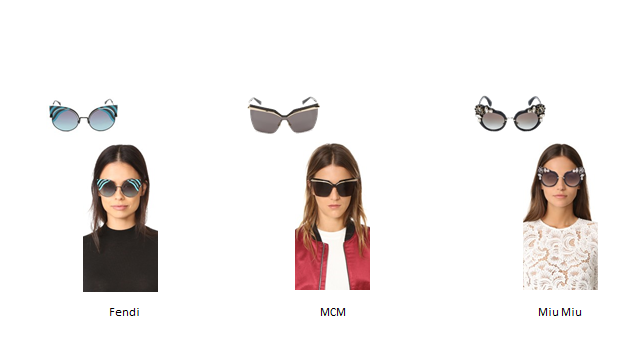 Sunglasses Trends: Runway