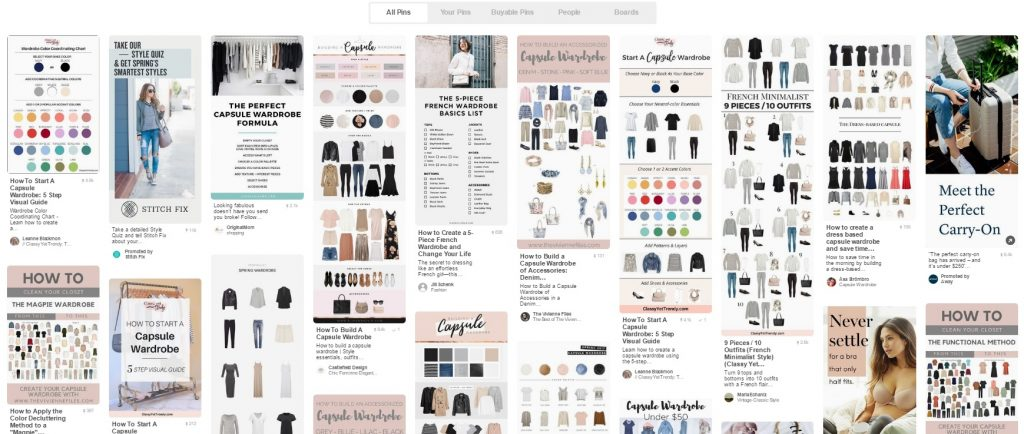 Capsule Wardrobe: Pinterest Results