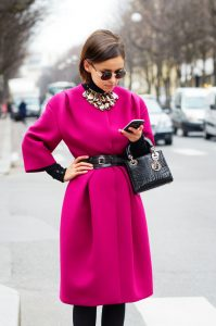 Mira Duma, fuchsia, bold color, style