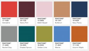 Pantone Fall 2017 Color Palette