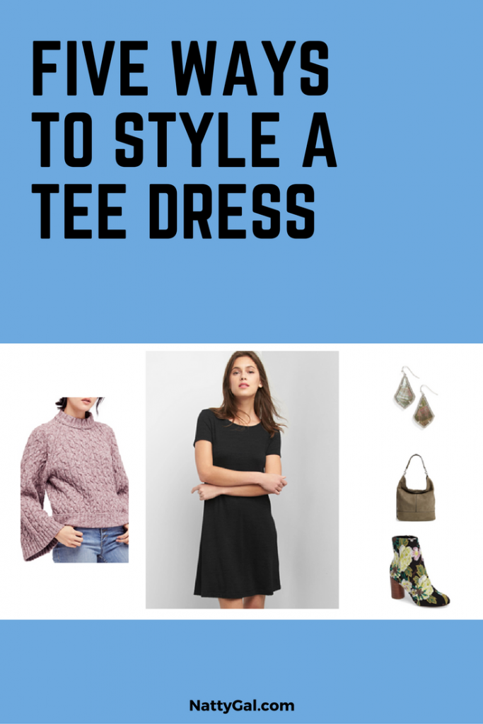 Ways to Style a Tee Dress | T-Shirt Dress Outfits