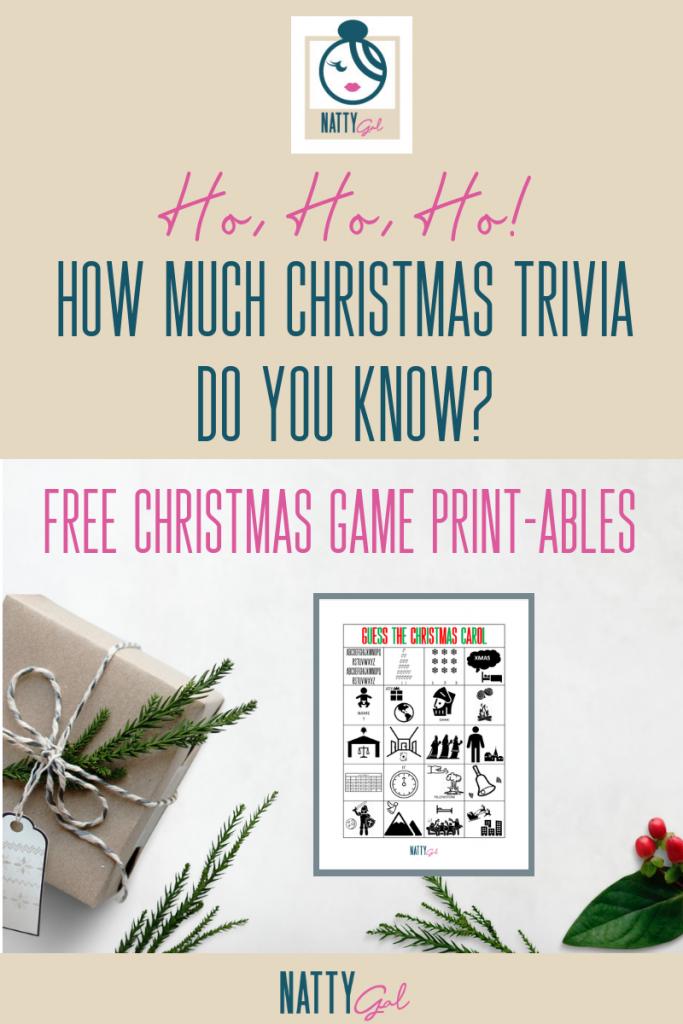 Christmas Trivia | Christmas Games | Christmas Printables