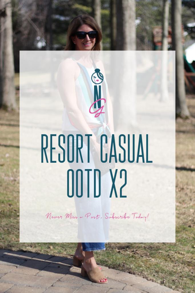Resort Casual | Wide Leg Crops | Summer OOTD | Resort OOTD