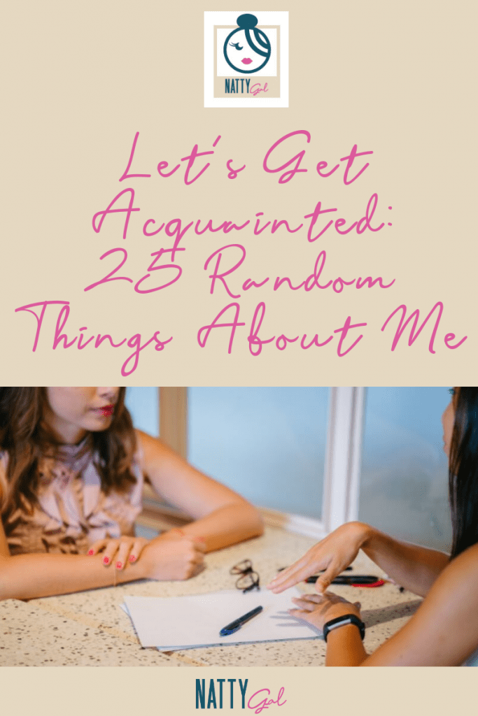 Let's Get Acquainted!  Today I'm sharing 25 random things about me, including my #enneagram type!