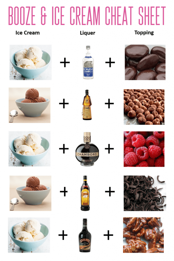 Best Booze & Ice Cream Combos #boozyicecream #easydesserts