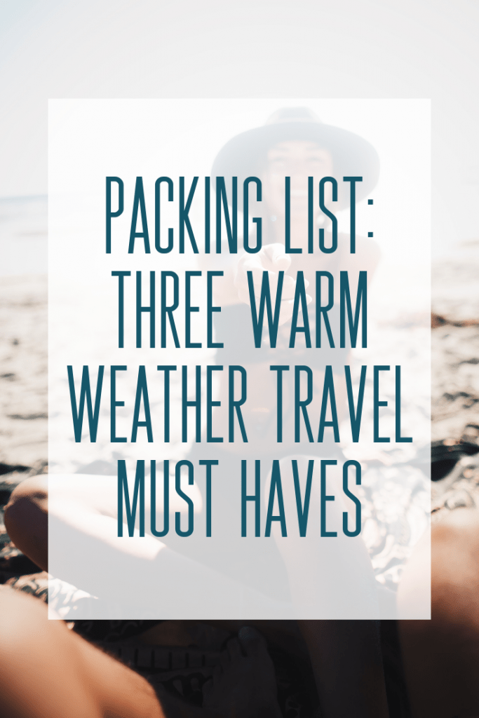 One key to carry-on travel is packing pieces that are lightweight and versatile.  Take a peek into my suitcase and my top 3 warm-weather travel must haves! #packing #beachcoverup #warmweathertravel