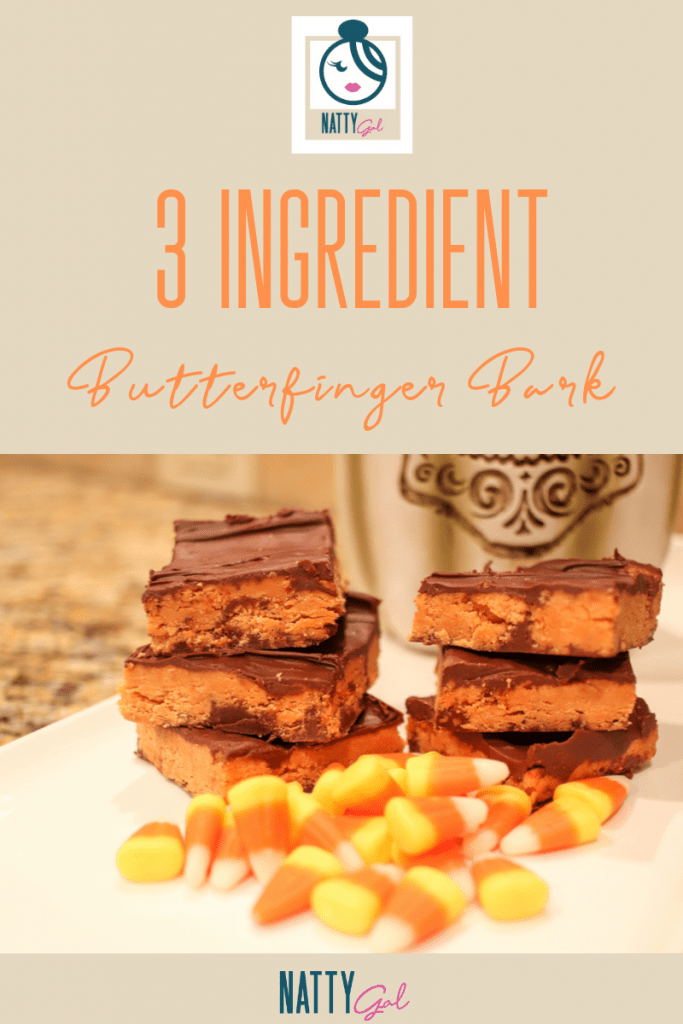 Wondering what to do with all that leftover candy corn post-Halloween?  Check out this easy, 3-ingredient Butterfinger Bark made in the microwave!  #microwaverecipes #easyrecipes #candy #halloween
