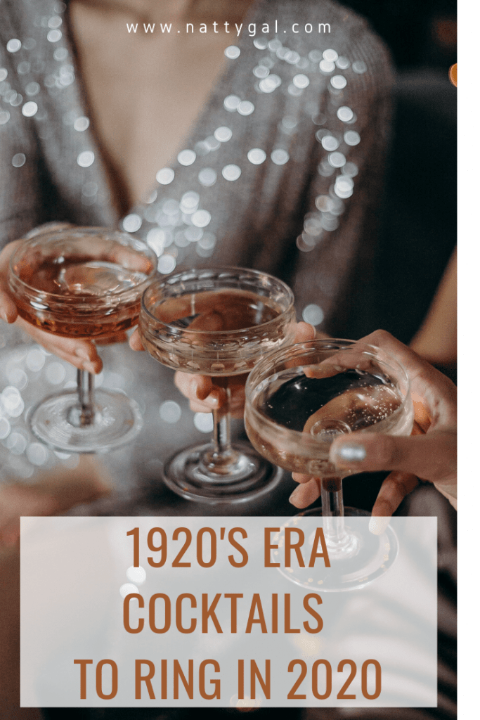 Greeting this new year Gatsby-style?  Add these 20's-era tipples to your cocktail line-up as you usher in the next decade at your favorite whoopee spot! '20's-era tipples | Gatsby party | 1920's cocktails | Jazz Age | Prohibition | New Year's Party Ideas