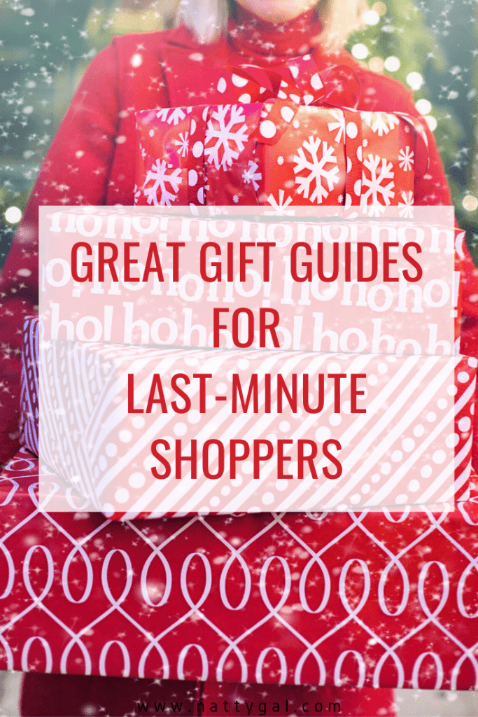 One week until Christmas - are you freaking out? Never fear. I've got some great gift guides for last-minute shoppers in today's post!  #GiftGuides #GiftGuidesforLastMinuteShoppers #ChristmasGiftIdeas