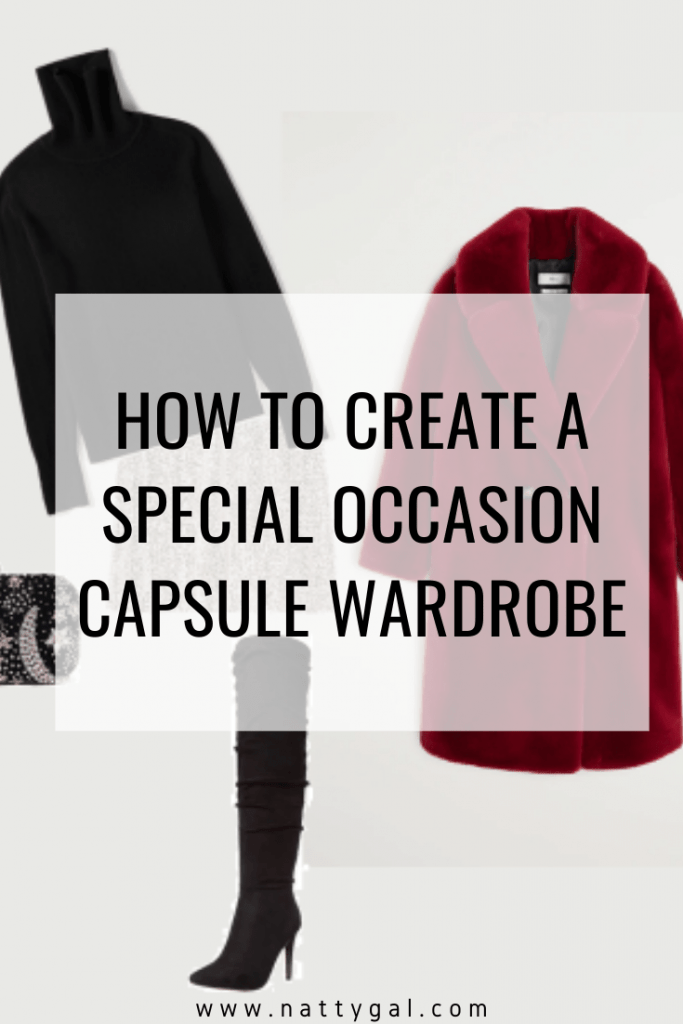 This post will walk you step-by-step through creating a special occasion capsule that will have you feeling fantastically dressed in a matter of minutes! #specialoccasioncapsule #holidaycapsule #capsulewardrobe
