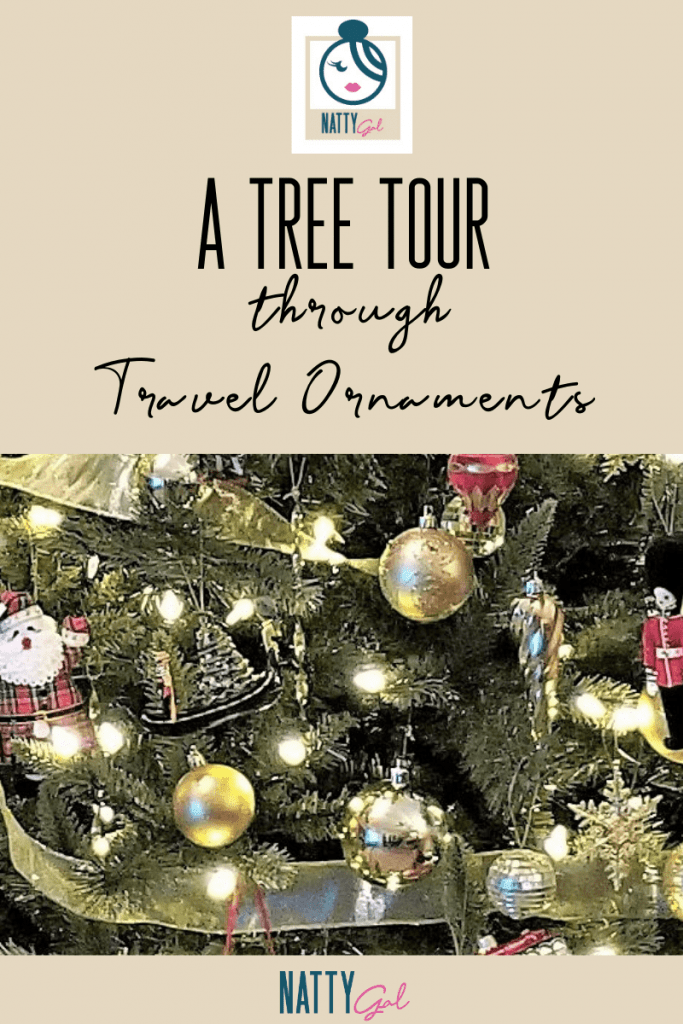 Join me for a tree tour that highlights some of our favorite travel ornaments collected throughout the years! #travelornaments