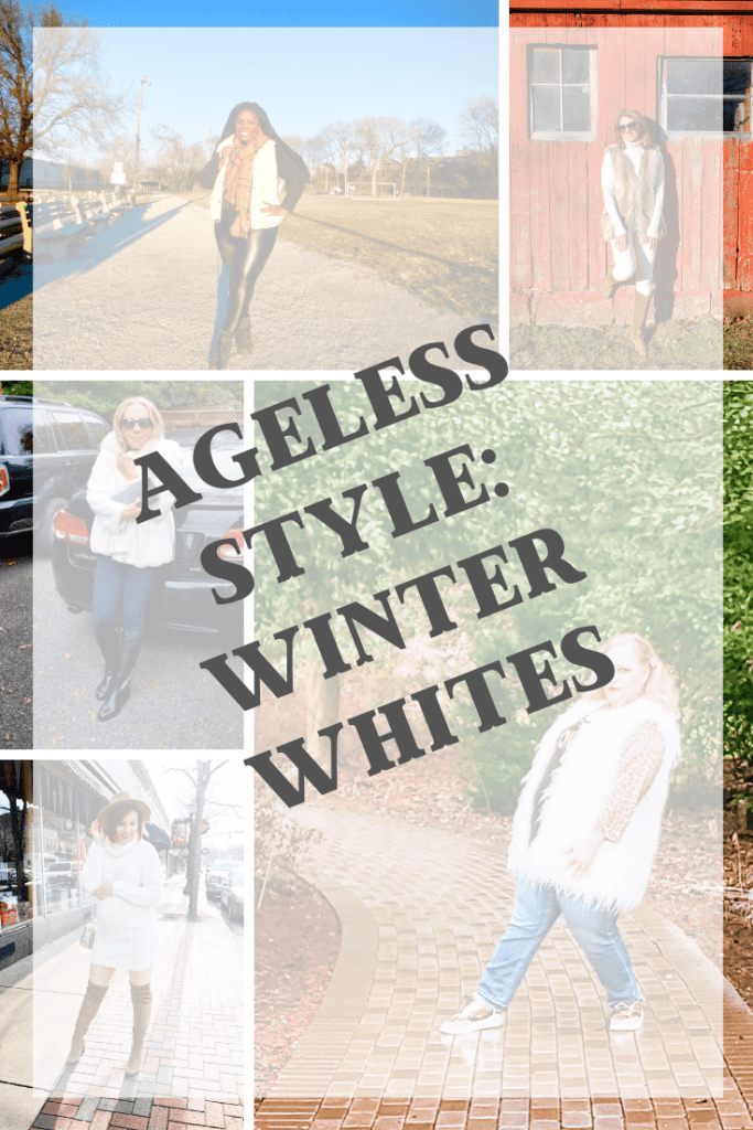 Winter Whites are a classic cold-weather favorite!  Come check out the fantastic outfits our Ageless Style group came up with for your winter inspiration!