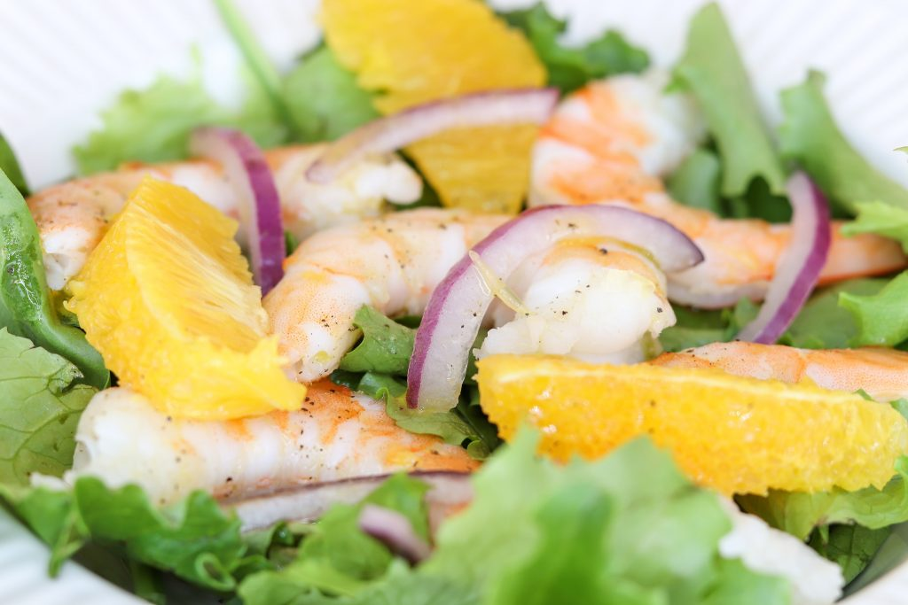 This light & healthy shrimp salad is a long-standing favorite! It's elegant as a 1st course for a special event or can be enjoyed as a light meal on its own.