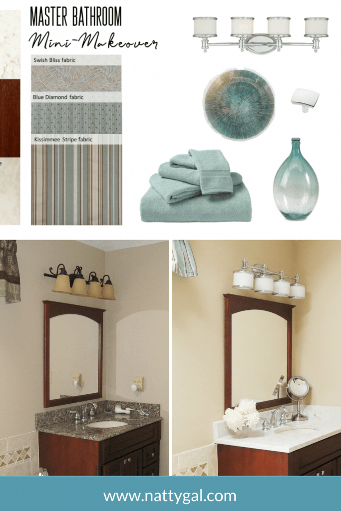 We did a complete remodel of our master bathroom about 10 years ago.  And, to be honest, we never really love a couple of the finishes we chose at that time.  This spring, we decided it was time for a master bath mini-makeover!