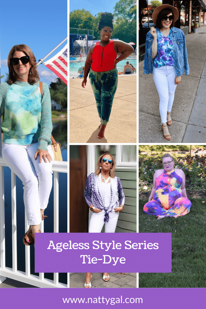 Tie-dye is back. Whether you design your own or prefer shopping pre-made, my Ageless Style sisters and I have some fantastic inspiration for you today.